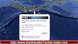 Major 6.4 Earthquake Near the East Coast of Honshu Japan
