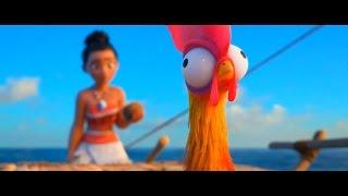 Отрывок с мультфильма МОАНА [2016] (Петух Хей-хей который не очень рад океану.)