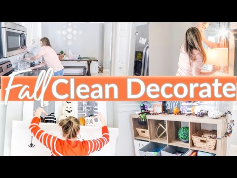 CLEAN AND DECORATE WITH ME 2019 | FALL DECORATING IDEAS | HALLOWEEN