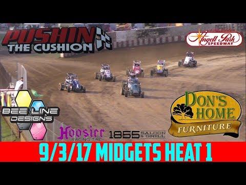 Angell Park Speedway - 9/3/17 - Midgets - Heat 1