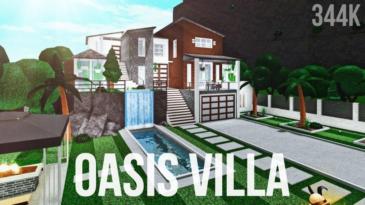 Bloxburg Oasis Villa 344k Youtube