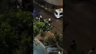 תאונת אופנוע בביתר הפצוע נמלט - שניות לאחר התאונה
