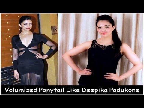 Deepika Padukone Inspired Volumized Ponytail (Hindi) - YouTube