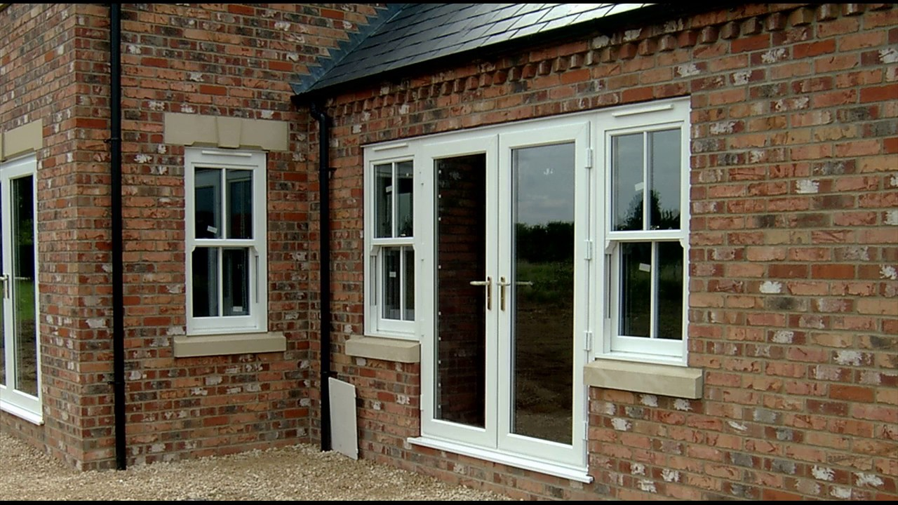 French Doors with Side Windows at Home Designs - YouTube