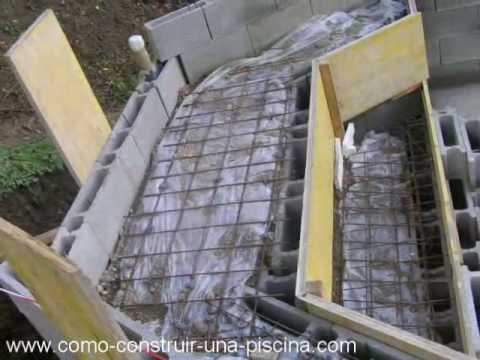 Construccion de la piscina parte 2 youtube for Como se construye una piscina de concreto