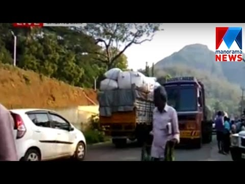 Checkpost clearance create traffic block at Thenmala  | Manorama News