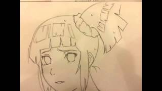 How to draw Hinata Hyuga Step by Step