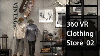 [VR360]빈티지 남성의류매장인테리어 VR,랜선집들이…