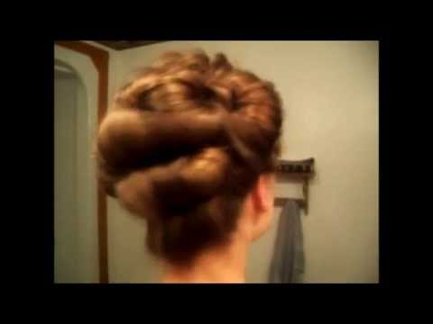 Victorian Bouffant Rolled Updo