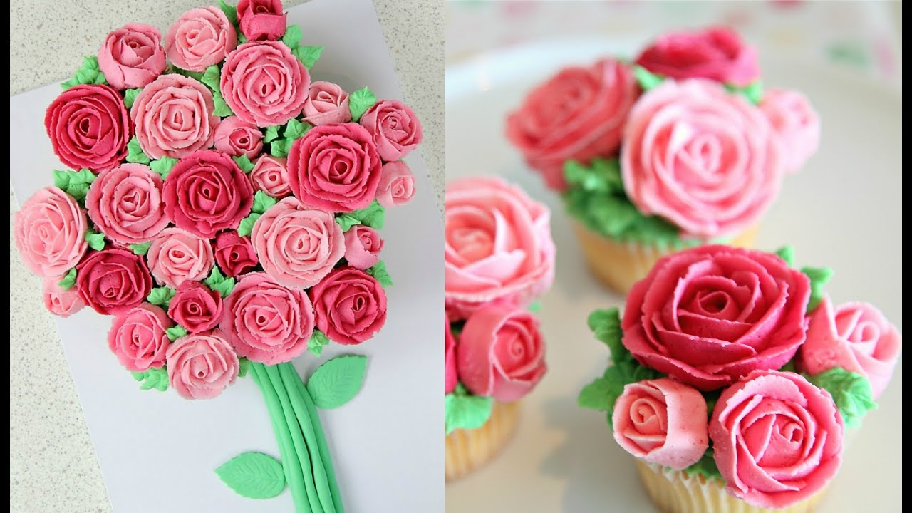 Buttercream Roses Cupcake Bouquet