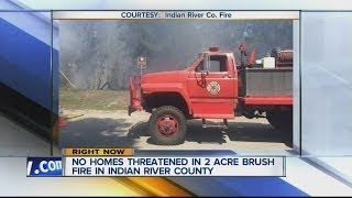 No homes threatened in 2-acre brush fire