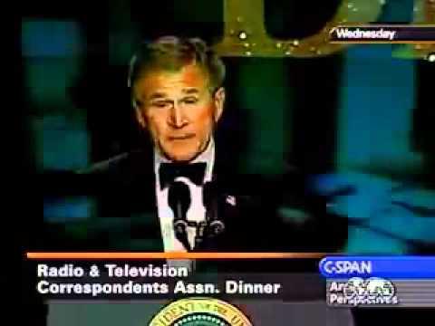 George W. Bush  - jokes about weapons of mass destruction .flv