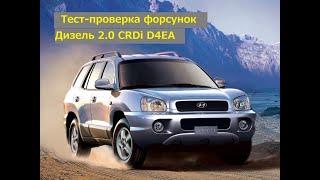 Тест-проверка форсунок Hyundai Santa Fe 2006 г. 2.0 CRDi D4EA Дизель 4WD