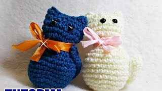 Tutorial GATTINI amigurumi all'uncinetto - crochet little cats - facile - easy