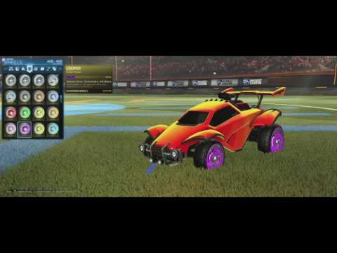 Rocket League - All Painted Items (focus on wheels)