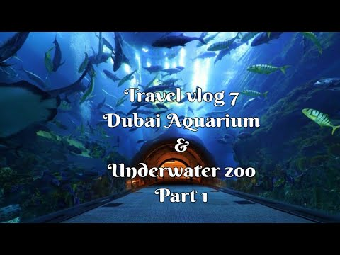 The most relaxing video || Dubai Aquarium & Underwater Zoo || Travel vlog 7 || Part