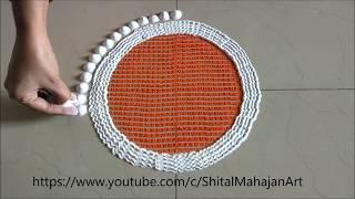 Creative Rangoli Designs Using Comb and Fork| Easy Rangoli by Shital Mahajan