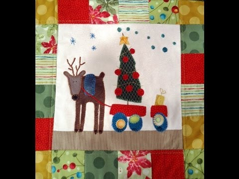 Quilting y patchwork como hacer un tapiz navide o marcela - Como hacer mantas de patchwork ...