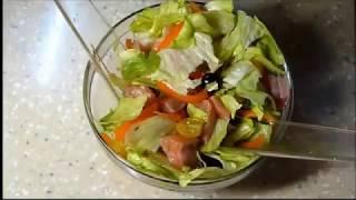 """Как приготовить салат с капустой и красной рыбой (сёмга). Рецепт салата """"Айсберг"""""""