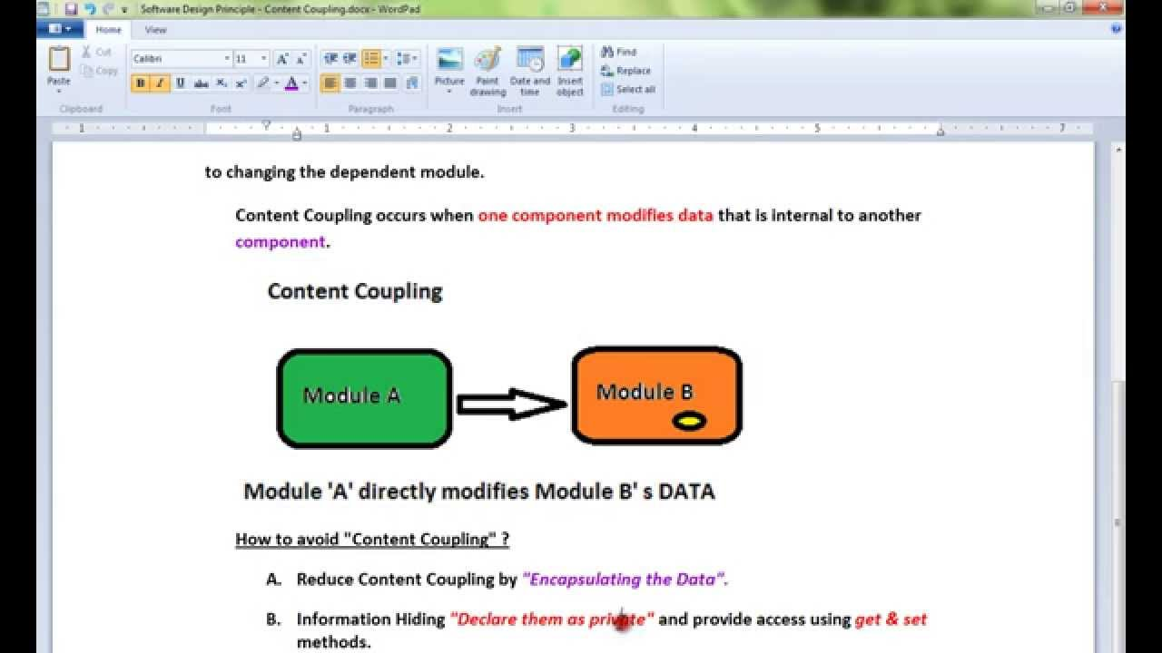 What Is Content Coupling Software Design Principle Youtube