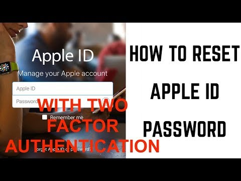 HOW to RESET APPLE ID PASSWORD with Two Factor Authentication