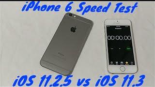 iPhone 6 iOS 11.2.5 vs 11.3 2018 Speed Test