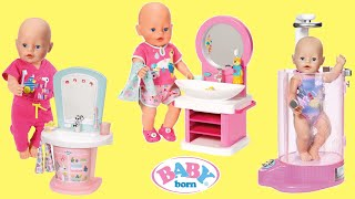 Baby Born Tooth Care Spa Rain Fun shower Wash Basin Baby Dolls Bedtime Care Routine 玩具宝宝 boneka bayi