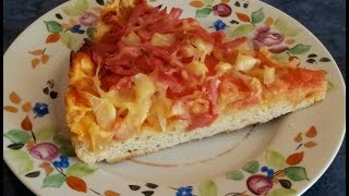 #Пицца с вареной колбасой. #Видеорецепт.