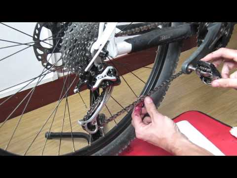 how to remove a bike chain to clean it