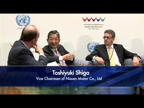 Televised panel discussion from the UN World Conference on Disaster Risk Reduction in Sendai, Japan