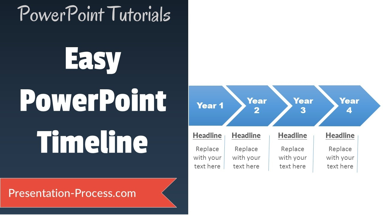 how to create easy timeline in powerpoint youtube
