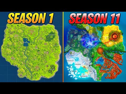 Evolution Of The Entire Fortnite Island..! (Season 1-11)