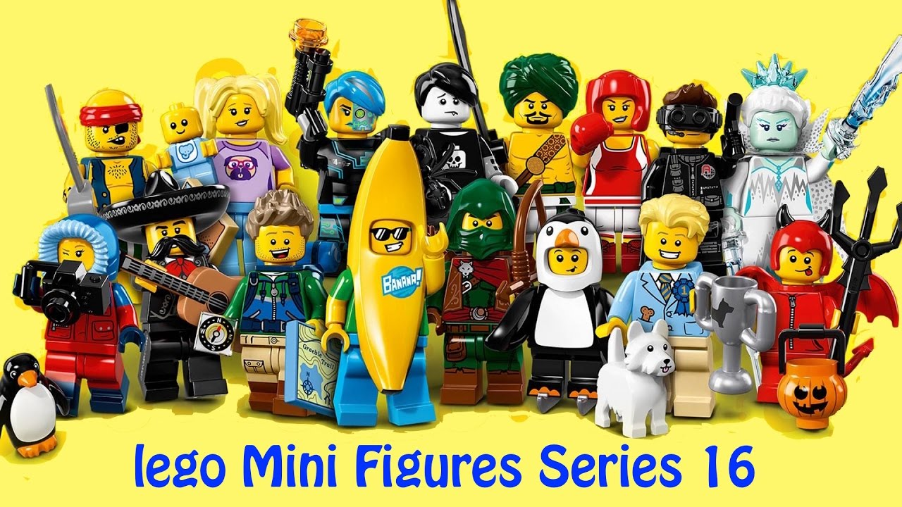 Lego Minifigures Series 16 Full Set 60 Blind Bags Unboxing By Kids