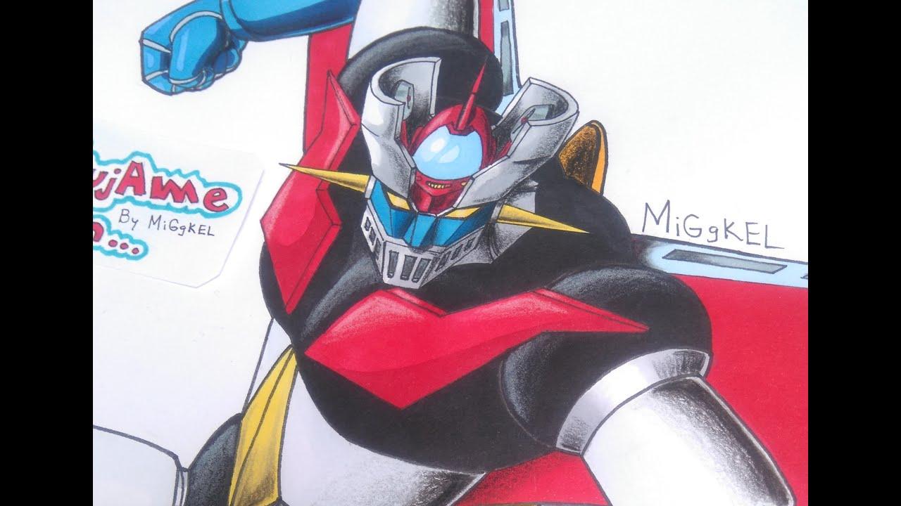 Como Dibujar A Mazinger Z Nueva Seccion Del Canal How To Draw Mazinger Z