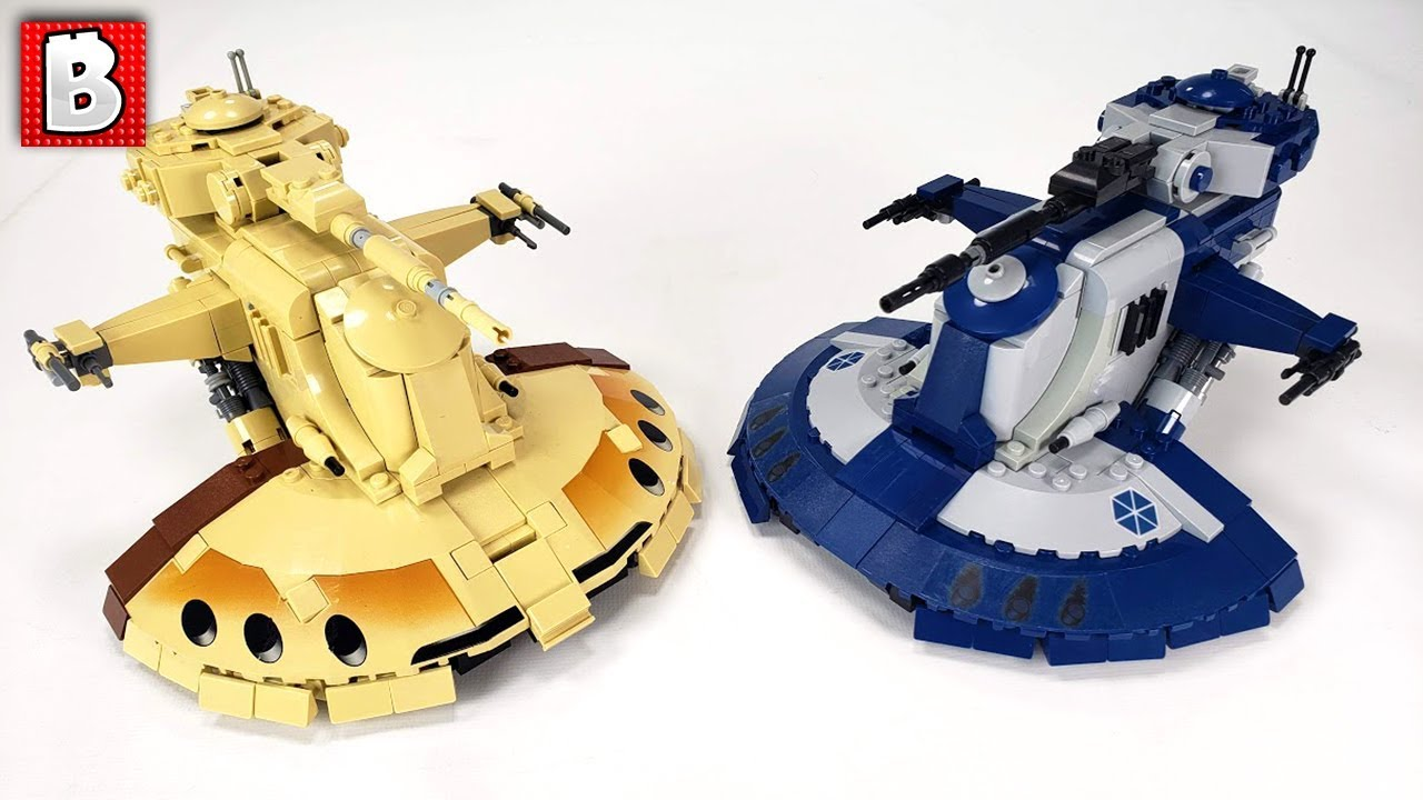 AAT in The Separatist Blue and Gray! Custom LEGO Model Instructions Available NOW