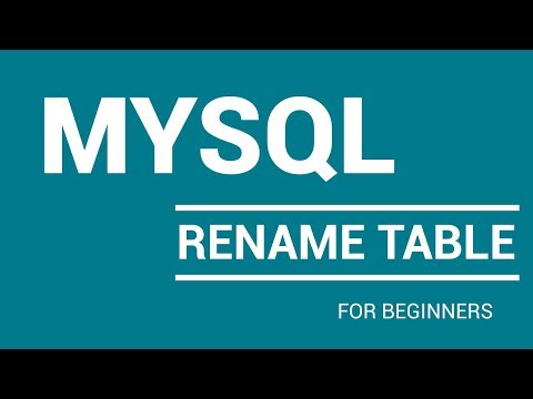 How To Rename Table In Mysql