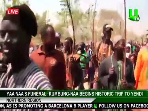 Yaa Naa's Funeral: Kumbung-Naa begins historic trip to Yendi