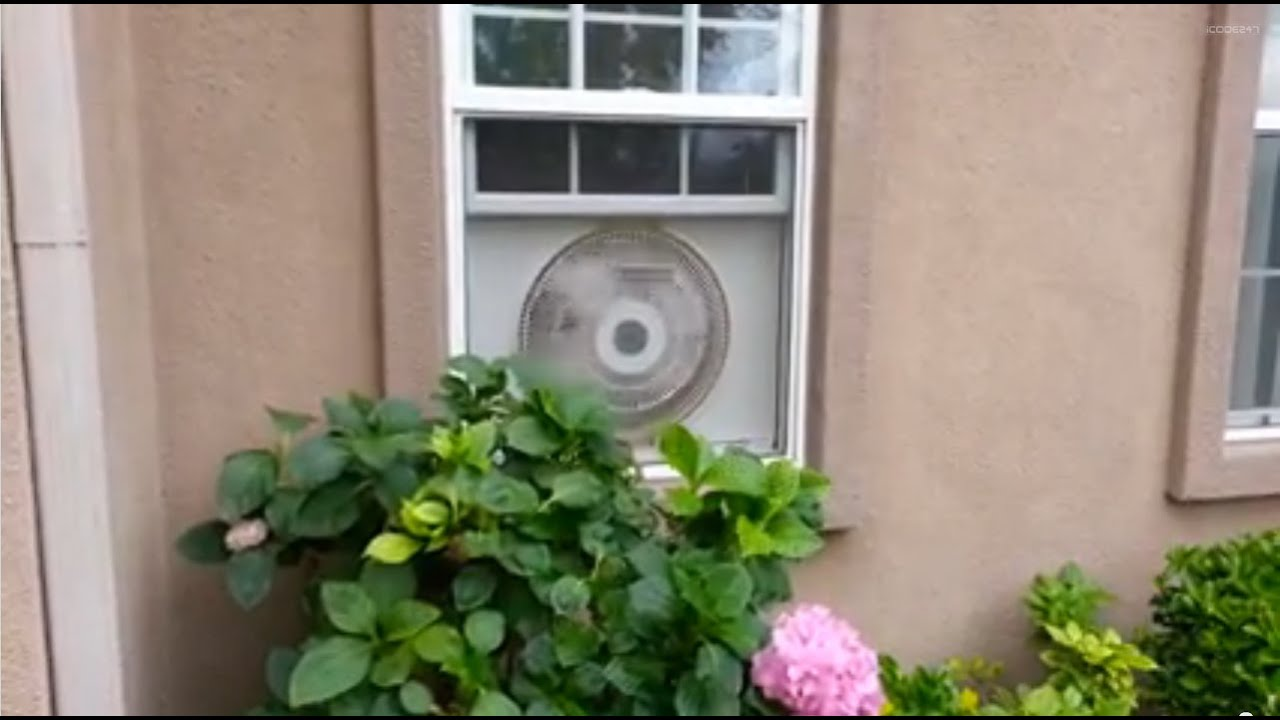 Airking 9155 whole house window fan demo - YouTube