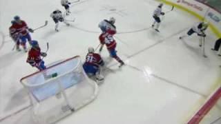 Travis Moen block on Cody McCormick, Carey Price save on Jordan Leopold (2011-03-22)