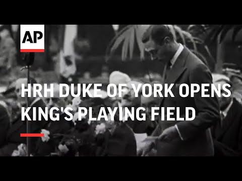 HRH Duke of York Opens King's Playing Field at Hampton Wick