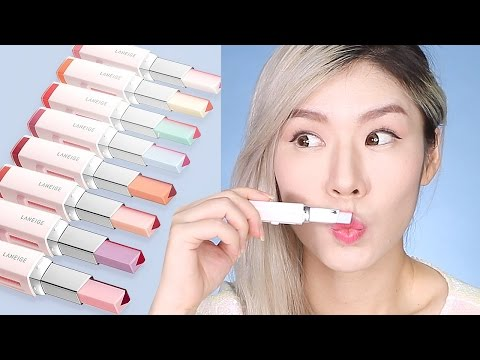 LANEIGE Two Tone Tint Lip Bars - ALL 8 Shades! Lip Bar Review & Lip Swatches