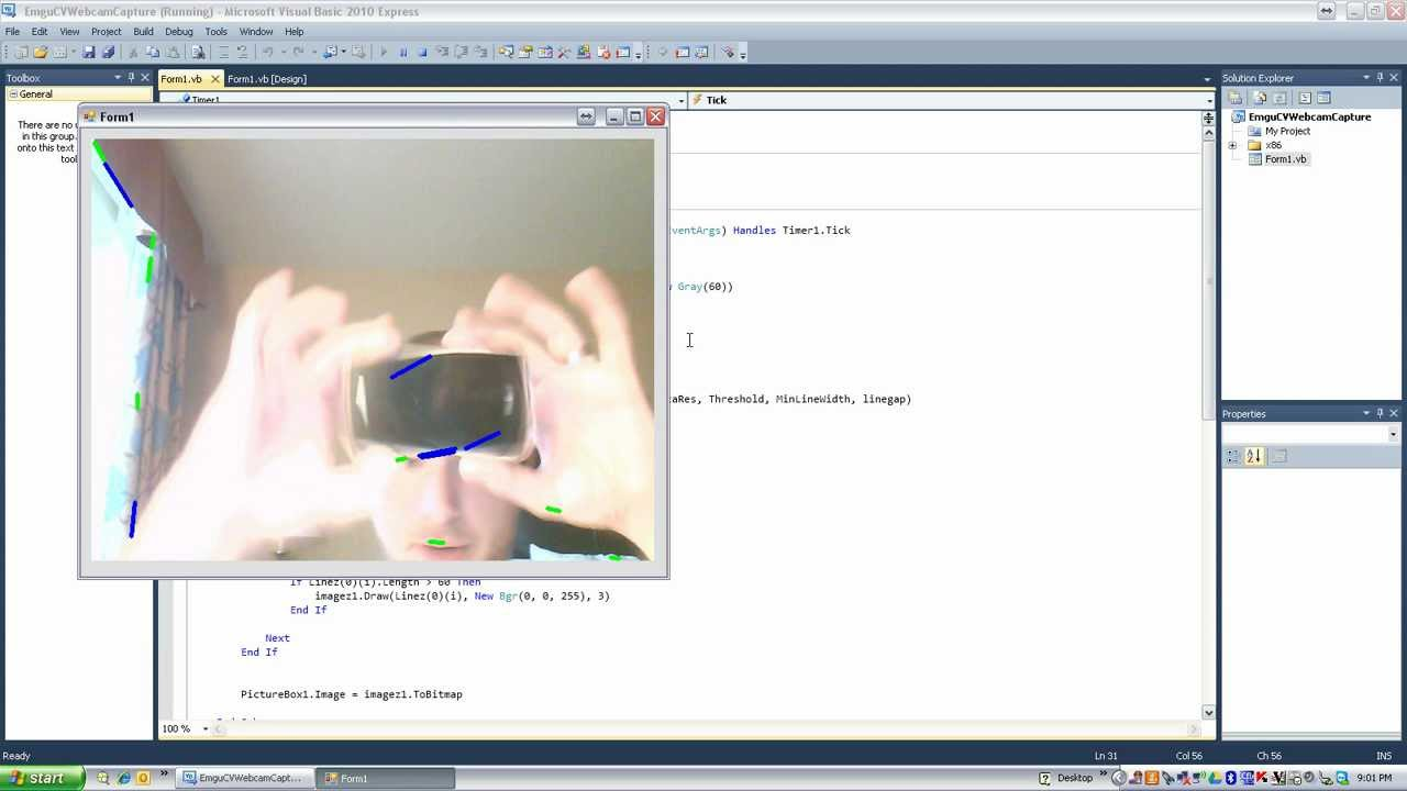 Drawing lines visual basic : Visual basic how to hough lines youtube