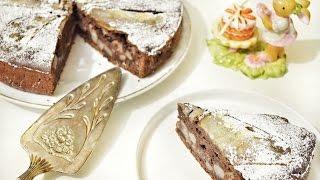 Шоколадный пирог с грушей // Итальянский Десерт // Baking With Dianatadi