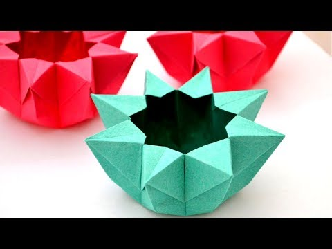 Hexagon Shape paper bowl making in Tamil   Paper Craft in Tamil   Tamil Crafts