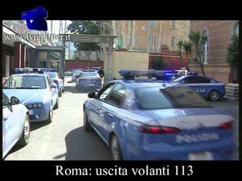 ROMA: USCITA  VOLANTI DELLA POLIZIA