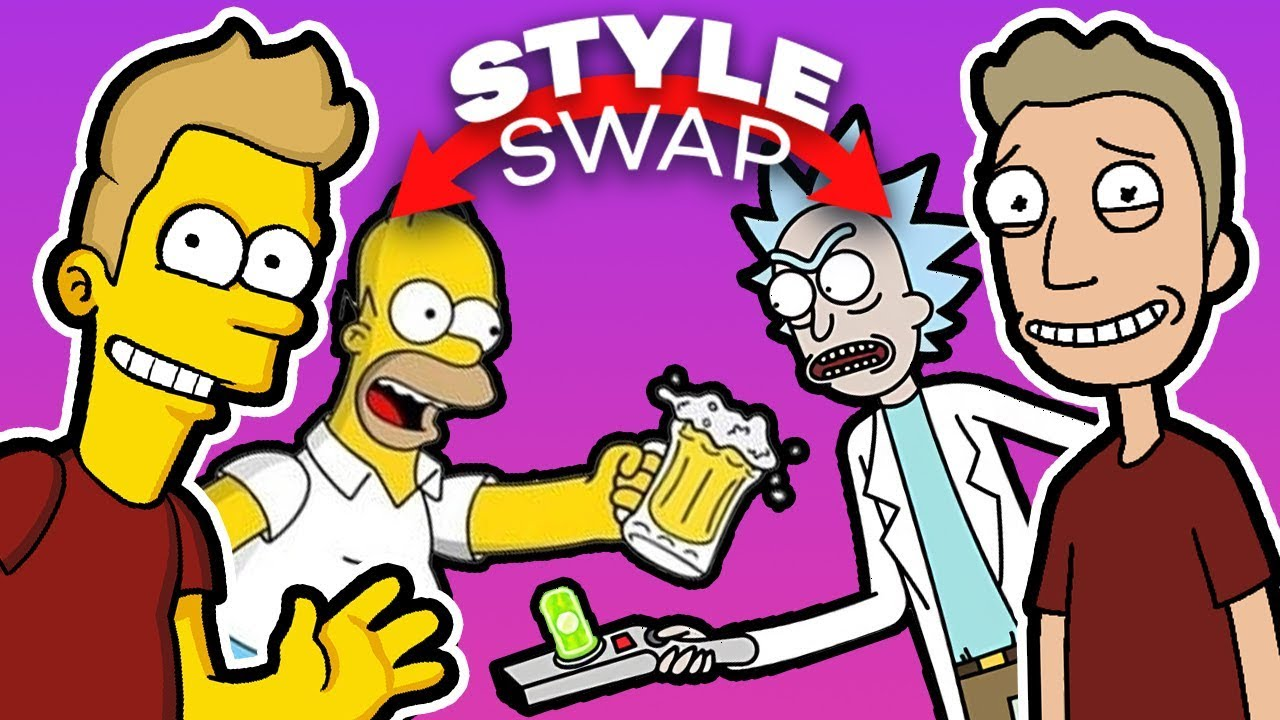 THE SIMPSONS and RICK AND MORTY , Style SWAP Challenge!