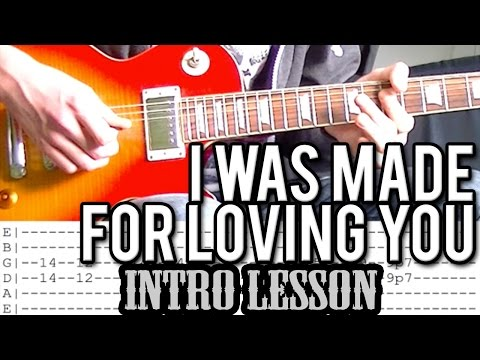 KISS - I Was Made For Loving You - Intro Guitar Lesson (With Tabs)