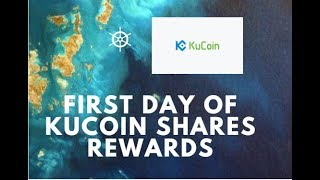 Kucoin Shares, update of first Kucoin rewards, passive income!