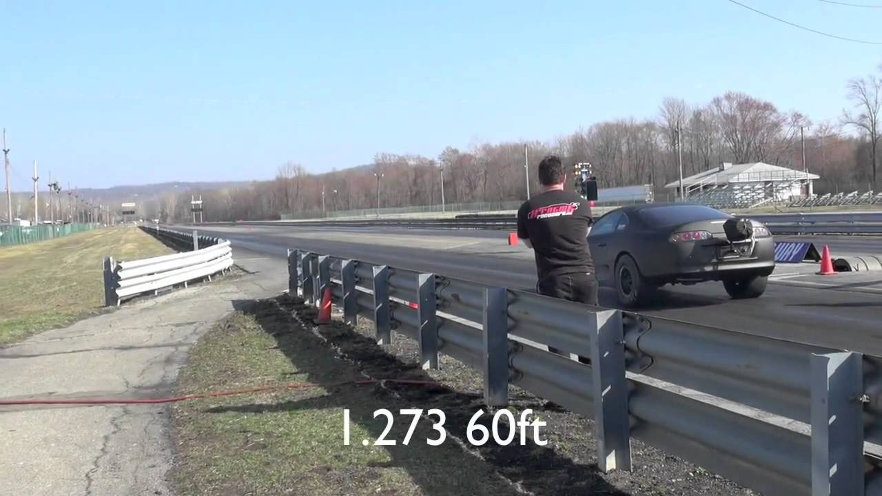 1/8th mile testing my new Rossler Terminator 4 TH400, new best 60 foots:  1 281, 1 276, and 1 270