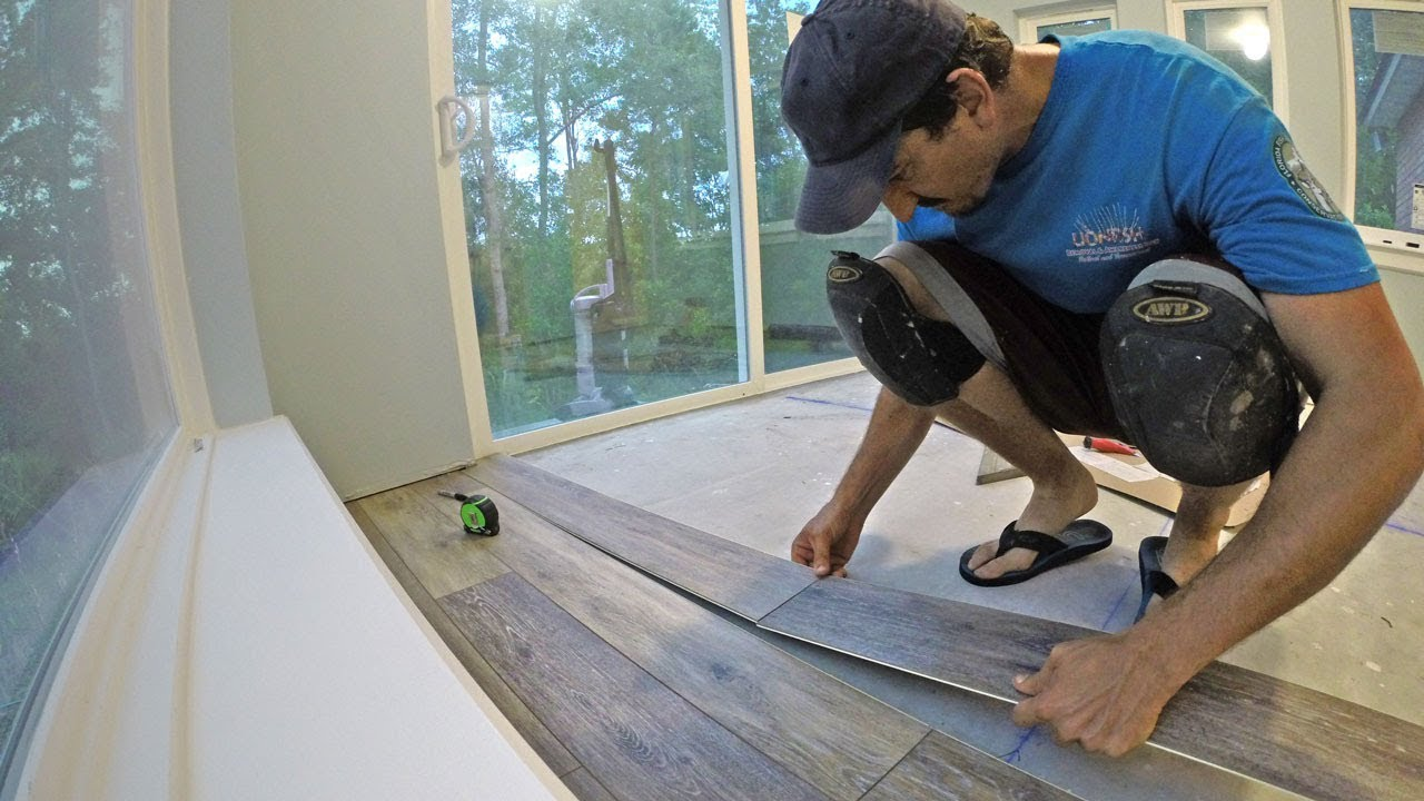 Install Engineered Vinyl Plank Flooring Vid 12 Youtube